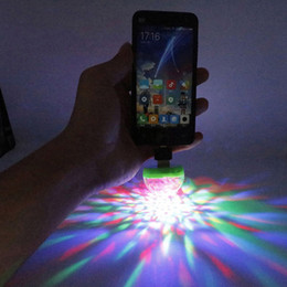 $enCountryForm.capitalKeyWord Australia - Fashionable 3 USB Port LED RGB Disco Stage Light Party Club DJ KTV Portable Magic Phone Ball Lamp 3 USB port Ball Lamp