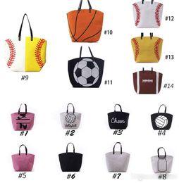 $enCountryForm.capitalKeyWord Australia - Handbags Canvas Bag Baseball Sports Bags backpack Casual Softball Bag Football Soccer Basketball Cotton Canvas Tote Bag
