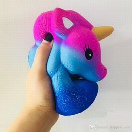 $enCountryForm.capitalKeyWord NZ - 15*14CM Jumbo Starry Unicorn squishy Horse Head Super Soft Cute Unicorn Shape Pony Squeeze lovely Slow Rising Decompression Toys home decor