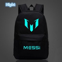 Messi backpack online shopping - Logo Messi Backpack Bag Men Boys Football Travel  Bag Teenagers School 7f2fb8e8b7e64