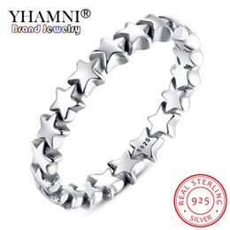 china wedding shop Australia - YHAMNI 100% real 925 Sterling Silver Forever Love Heart Finger Ring Original Jewelry Gift GLOBAL SHOPPING FESTIVAL 2020 YPA7108