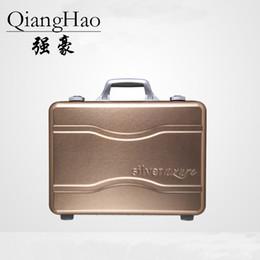 Discount aluminum water proof case - 100% fully Aluminum-magnesium alloy travel luggage trolley men suitcase water proof case Tool suitcase