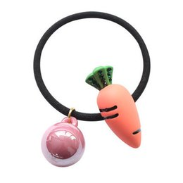 black hair decoration UK - 20190713 Stereo Carrot General Fruit Hair Decoration
