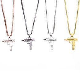 $enCountryForm.capitalKeyWord Australia - New Uzi Gun Cross Pendant Necklaces Long Link Chain Fashion Necklace For Unisex Hip Hop Jewelry