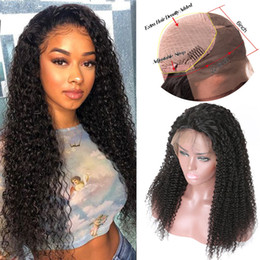 $enCountryForm.capitalKeyWord Australia - Afro Kinky Curly Human Hair Lace Front Wigs Brazilian Peruvian Malaysian Indian Mongolian Curly Human Hair Wigs For Black Women Kinky Curly