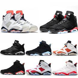 91a6ee2d74 Nike Air Jordan Retro Designer Hommes 6 6s Chaussures De Basketball Tinker  UNC Bleu Noir Chat Blanc Infrarouge Rouge Carmine Maroon Toro Hommes  Formateur ...