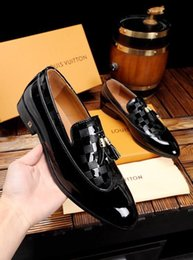 Best Leather For Shoes NZ - Best Patent Leather Oxford Shoes For Men Dress Shoes Men Formal Shoes Pointed Toe Business Wedding Plus Size 45