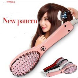 Electric Hair Straightening Iron NZ - Portable Ionic Electric Fast Heat Hair Straightener Travel Hairbrush Straighter Comb Straightening Brush Styling Straight Iron