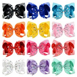 "$enCountryForm.capitalKeyWord Australia - 12 Colors 6"" JOJO Hair Bows Girl Colorful Print Barrettes Girl Hair Accessories kids Unicorn party hair clipper designer headband DHL FJ210"