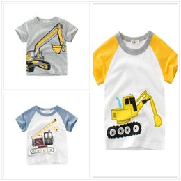 $enCountryForm.capitalKeyWord UK - 1-8Y Kids Boys T Shirts Excavator Cartoon Tops Cute Baby Cotton Top Summer Clothing Toddler White T-shirt Children Play