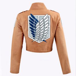 $enCountryForm.capitalKeyWord UK - Attack on Titan Jacket Shingeki No Kyojin Jacket Legion Cosplay Costumes Jacket Coat Any Size High Quality Eren NEW Trendy Plus Size S-XXL