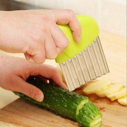 $enCountryForm.capitalKeyWord Australia - Wave Onion Potato Slicer French Fries Salad Corrugated Cutter Potato Slices Knife Chopper Kitchen Gadget