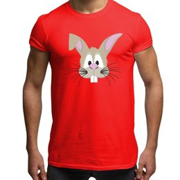 bdbc99cc7c9 Cute Graphic Tees Australia - Cute Rabbit T Shirt Men s Novelty Pet Lovers  Bunny Animal Face