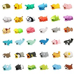 Discount wire cord covers - Phone Cable Protector For iphone Charger Cable Bite Cute Animal USB Charger Data Protection Cover Mini Wire Cord Phone A