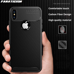 $enCountryForm.capitalKeyWord Australia - Carbon Fiber Soft Silicone TPU Anti-fall Case For iPhone XR X XS Max SE 5s 6 7 8 Plus Rugged Shockproof Protective Cover