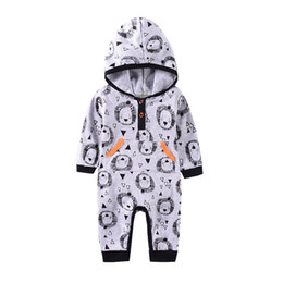$enCountryForm.capitalKeyWord NZ - Ins 2019 new tiger baby rompers hooded newborn romper newborn baby boy clothes Baby Infant Boy Designer Clothes A7488