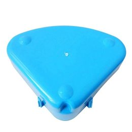 small dog house kennels Australia - Rabbit Toilet Litter Tray,Small Animal Toilet Corner Potty, Pet Litter Trays Corner For Rabbit, Hamster (Blue) Dog Houses Kennels Accessor