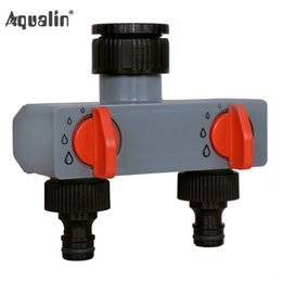 $enCountryForm.capitalKeyWord Australia - tap adapter 2 Way Water Distributor Tap Adapter ABS Plastic Connector Hose Splitters for Hose Tube Water Faucet #27211