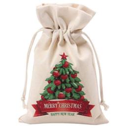 Reusable Christmas Gift Bags Australia - Christmas Bag Canvas Large Candy Bags Canvas Santa Sack with Drawstring for Christmas Gift,Reusable Jewelry Storage Case Coin