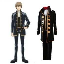 Wholesale gintama cosplay resale online - Anime Gintama Cosplay Costumes Sougo Okita Cosplay Uniforms Halloween Party
