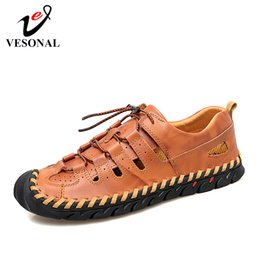Brand Casual Sandals Australia - VESONAL Brand 2019 New Summer Climbing Men's Sandals Shoes Outdoor Casual Fashion Breathable Comfortable Male Footwear Sandalias