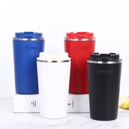 ClassiC Car mugs online shopping - Stainless Steel Travel Cup Vacuum Tumbler Outdoor Leisure Portable Tumblers Car Cups Coffee Beer Mugs Water Bottles GGA2362