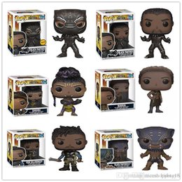 pop collectible figures NZ - Classical 4 stlye Funko POP Black Panther Vinyl Action Figure with Box #211 Collectible Toy Popular Gift Good Quality hot sell