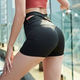 Wear Compression Shorts Australia - High Waist Bandage Push Up Yoga Shorts Compression Women Shorts Biker Sports Fitness Gym Women Sports Wear for Gym