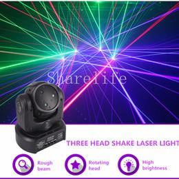 $enCountryForm.capitalKeyWord Australia - Sharelife Mini 3 Head RGB Shark Moving Beam DMX Network Laser Light Professional Home Gig Party DJ Stage Lighting Sound Auto 3H