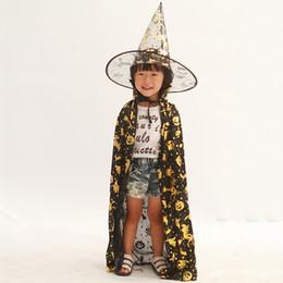 $enCountryForm.capitalKeyWord UK - Best Sale Halloween Toys Witch Bronzing Kids Cape+hat 2pcs sets Grim Reaper Cosplay Children Boys Girls Party Decoration Baby Dress Up