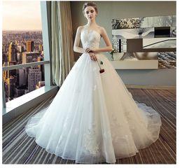 $enCountryForm.capitalKeyWord Australia - Wedding Dresses Tail Wedding Dresses, Princess Dream 2019 New Spring Bride Breast-wiping Tail Skirt, Factory Spot Direct Sales