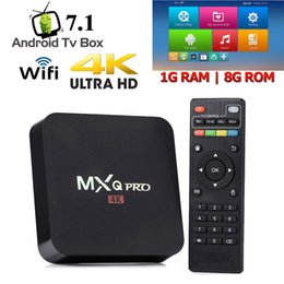 Chinese  MXQ PRO Android 7.1 TV Box RK3229 S905W Chip 1GB 8GB Smart TV Box Media Player Support 2.4G Wi-Fi TX6 TX3 manufacturers
