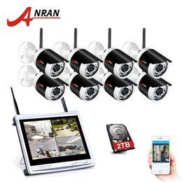 12 Security Camera System Australia - ANRAN 2MP Wireless Home Security Camera 1080P 2.0MP Waterproof NightVision CCTV Camera System With 12 Inch LCD Monitor Screen
