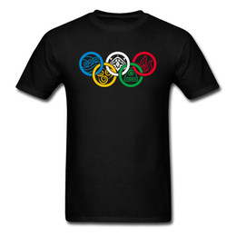 T-Shirt da Bending Olympics Maglietta da Uomo Maglietta di cotone Summer Workout Top Tees Mens Custom Logo Geometric Clothes