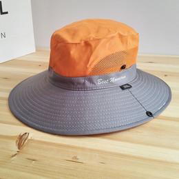 7987bc1d430 Waterproof UPF 50+ Sun Hat Bucket Summer Men Women Fishing Boonie Hat Sun  UV Protection Long Large Wide Brim Bob Hiking Outdoor
