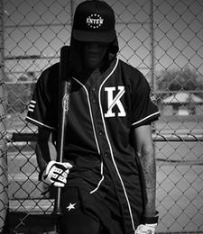 $enCountryForm.capitalKeyWord Australia - Men Women Unisex Mesh V-neck Breathable T-shirts Hip Hop T-shirts Striped Men's Baseball Jersey Punk T-shirts Black White Color