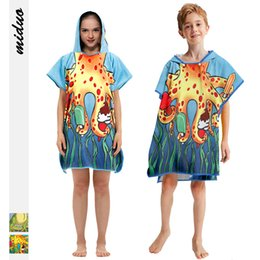Sell Digital Products Australia - New products best selling dinosaur octopus digital printing children's hooded cloak bath towel multi-function hood polyester beach towel