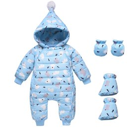 4a35696f590 good qulaity Baby Winter Romper newborn Hooded Warm Soft Baby Pajamas For  Boys Girls Overall Infant Clothing Toddler Jumpsuit 3pc