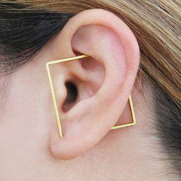 434539b9f Gold Ear Cuff Ear Climber Handmade Square Earrings Gold Filled 925 Silver  Jewelry Oorbellen Minimalist Earrings For Women T7190617