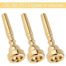 Bocchino Tromba 3C 5C 7C Dimensioni Strumento di accessori (3 Pack Oro) in Offerta