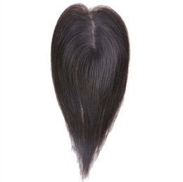 Hair Brown UK - Real-life wig film replacement block small area cover white hair increase hair volume replacement top invisible hand-woven patch