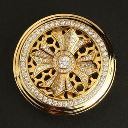 Boucle automatique en acier inoxydable incrusté de diamants pour hommes pour 3.3-3.5cm taille ceinture en cuir ceinture boucle ceinture ceinture boucle en Solde