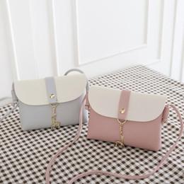 Backpack stitching online shopping - New Design Creative Elk Keychain Stitching Women Girls Shoulder Bags Children Girl Coin PU Crossbody Mini Phone Bag