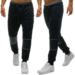 $enCountryForm.capitalKeyWord NZ - Men Splicing Printed Overalls Casual Pocket Sport Work Sports Suit Black Casual Zipper Elastic Midweight Winter Trouser Pants