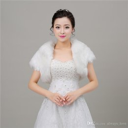 $enCountryForm.capitalKeyWord NZ - 2019 Beautiful Winter Faux Fur Bridal Wedding Wrap Cape Shawl Jackets Coat Bolero Tippet Stole for Wedding Party PJ020