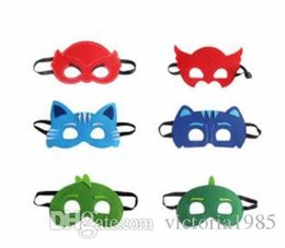 masquerade costumes for kids NZ - Hot Cartoon Felt Mask PJ mask Costume Party Masquerade Eye Mask Children Kids Christmas Birthday Gift