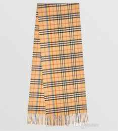 Long Check Scarf Australia - Branded Women Letter Print Classic Rainbow Stripe Check Rectangular Cashmere Scarf Designer Female Plaid Long Cotton Thick Tassel Shawls