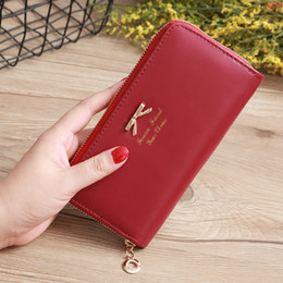 Candy Wallets Wholesale Australia - Women's Wallet PU Leather Lady Purses Candy Color Ladies Girl Clutch Wallet Long Female Red Carteira Feminina Card Holder
