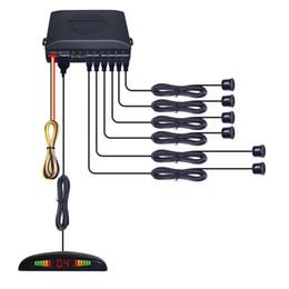 $enCountryForm.capitalKeyWord NZ - Car Front 2 Sensors Rear 2 Sensors Parking Sensor Reverse Aid Backup Radar System With LED Display #889