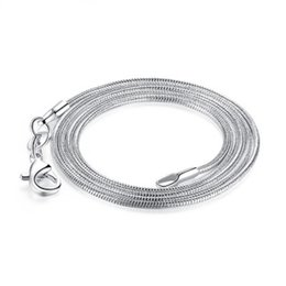 925 Silver Chain 22 Australia - 1.2mm Snake Chains 925 Silver Plated Necklace Snake Bone Chains with Lobster Clasps 18 20 22 24 26 Inch Jewelry Accessories Cheap Wholesale
